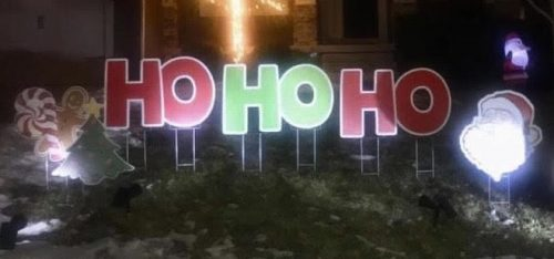 christmas yard signs